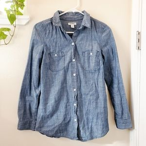 Old Navy Long Sleeve Jean Button Up Shirt